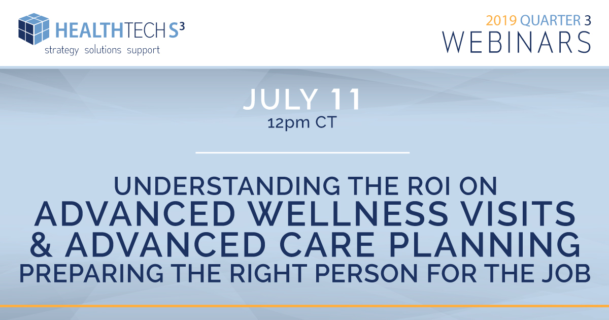 Understanding the ROI on Annual Wellness Visits and Advance Care Planning:  Preparing the Right Person for the Job