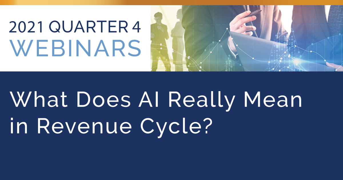 What Does AI Really Mean in Revenue Cycle?